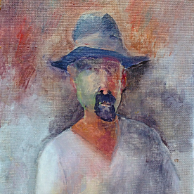 Self portrait in Felt Hat