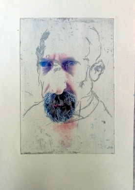 Self Portrait with InkJet Digital imagery 2014